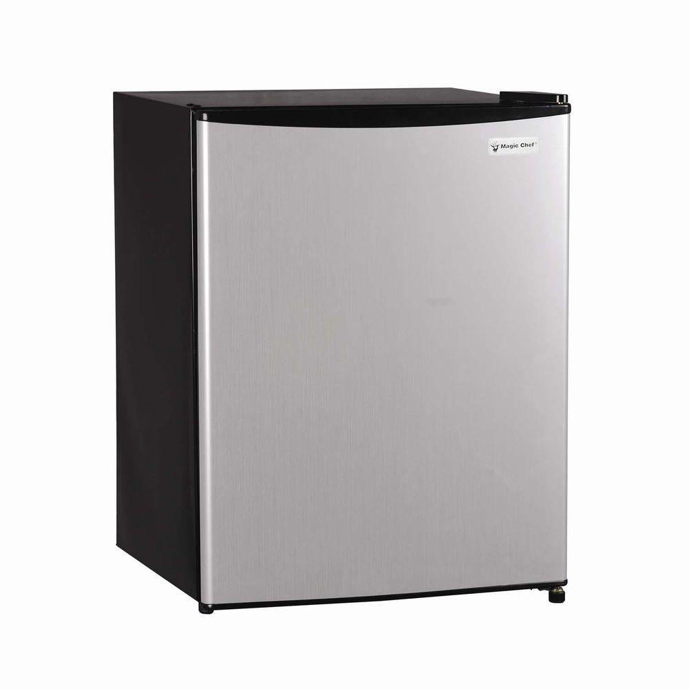 Magic Chef 2.4 cu. ft. Mini Refrigerator in Stainless Steel Look