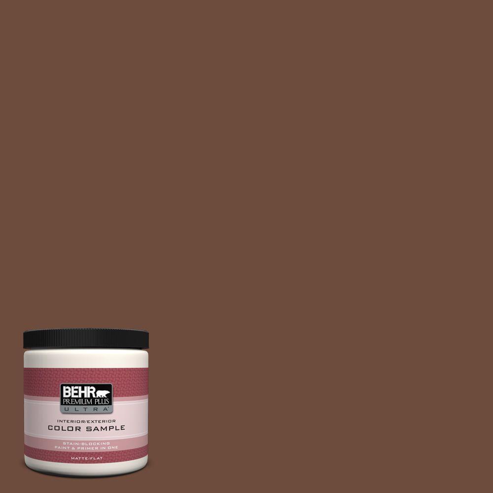 BEHR Premium Plus Ultra 8 oz. #ICC-81 Traditional Leather Interior/Exterior Paint Sample