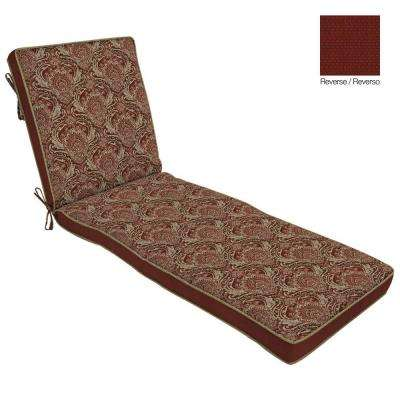 Venice Reversible Outdoor Chaise Cushion  sc 1 st  Home Depot : home depot chaise lounge chairs - Sectionals, Sofas & Couches