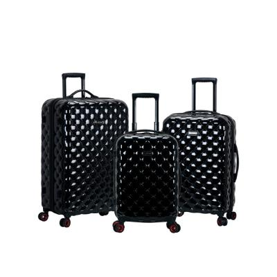3-Piece Black Polycarbonate Luggage Set