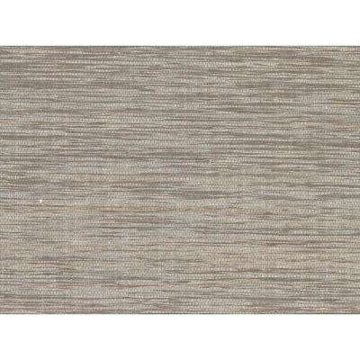 Cavite Grey Grasscloth Peelable Roll (Covers 72 sq. ft.)
