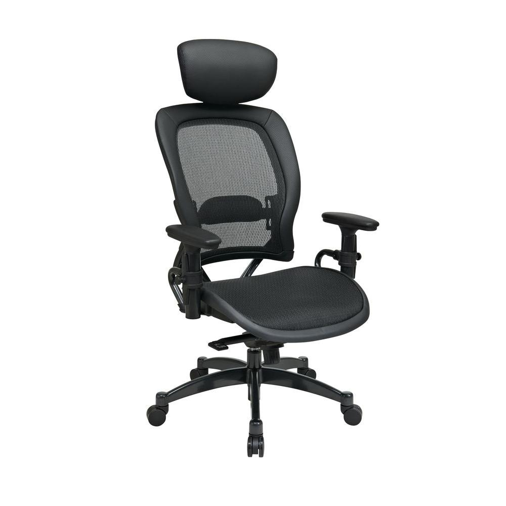 Black and Gunmetal Office Chair