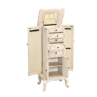 Lief Jewelry Armoire in Antique White