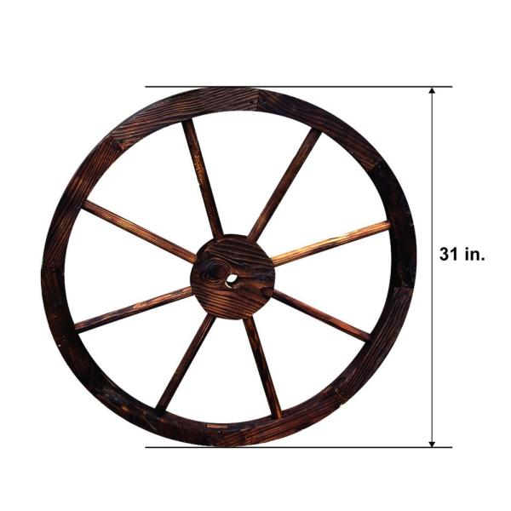 Shine Company Decorative Wagon Wheel Trellis Burnt In Brown 4952bt The Home Depot