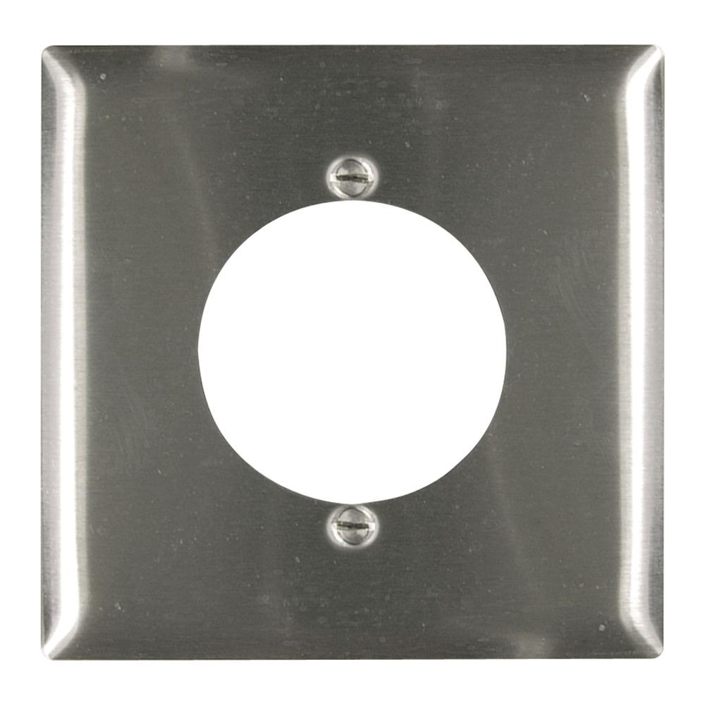 302 Series 2-Gang 2.15 in. hole Power Outlet Wall Plate in