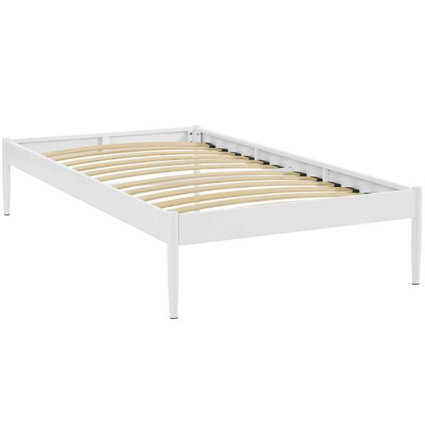 MODWAY Elsie White Twin Bed Frame MOD-5472-WHI