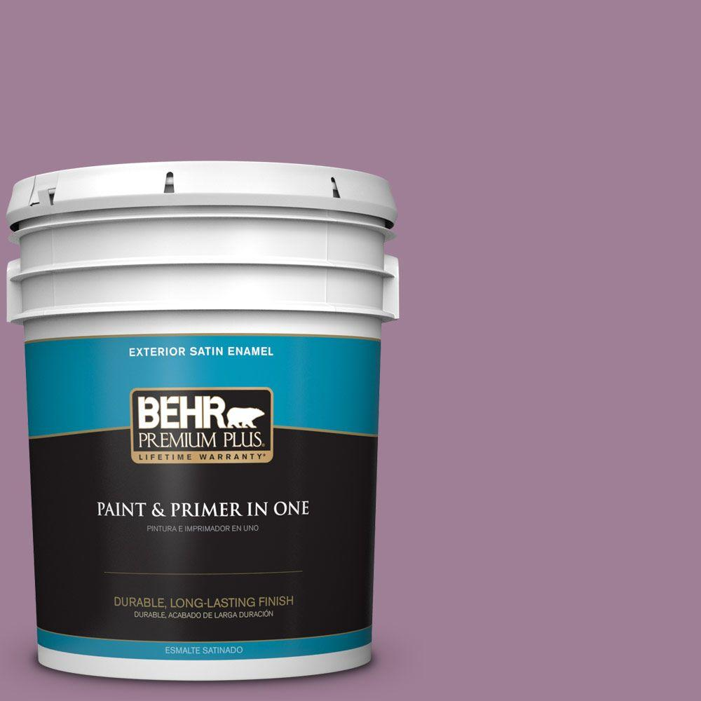 BEHR Premium Plus 5-gal. #PMD-82 Violet Bouquet Satin Enamel Exterior Paint