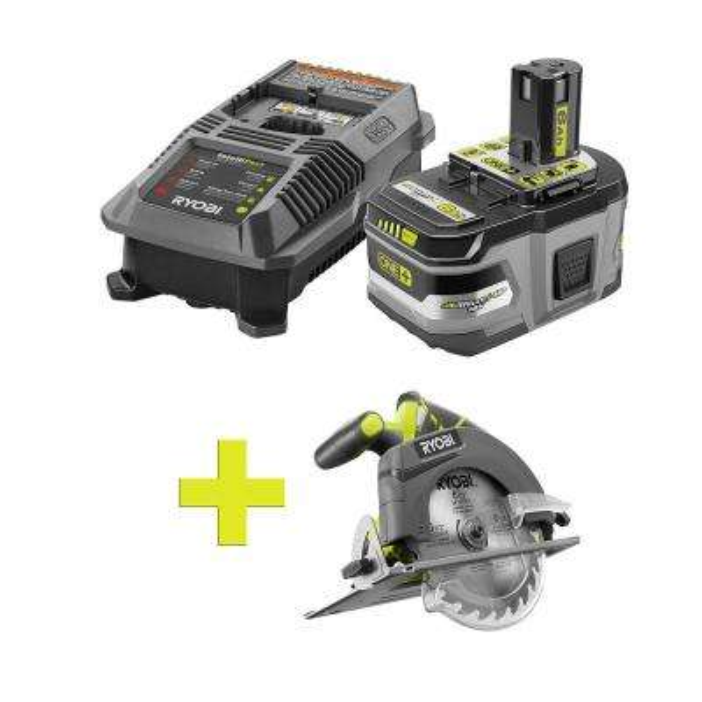 18-Volt ONE+ Lithium-Ion LITHIUM+ HP 6.0Ah Starter Kit w/ Bonus ONE+ 6-1/2 in. Cordless Circular Saw