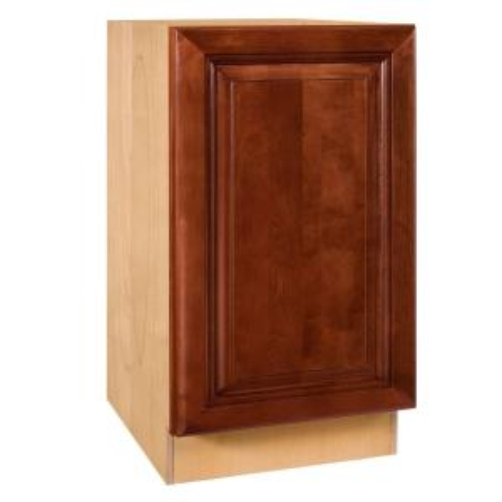Single Door Hinge Left Base Kitchen Cabinet In Cabernet
