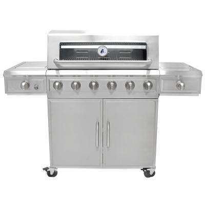 6 Burner Stainless Steel Dual Fuel Propane Gas Grill