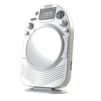 AM/FM Stereo Shower Radio and CD Player with Fog Resistant Mirror