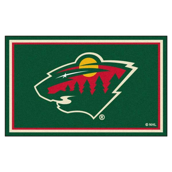 Minnesota Wild 4 ft. x 6 ft. Area Rug