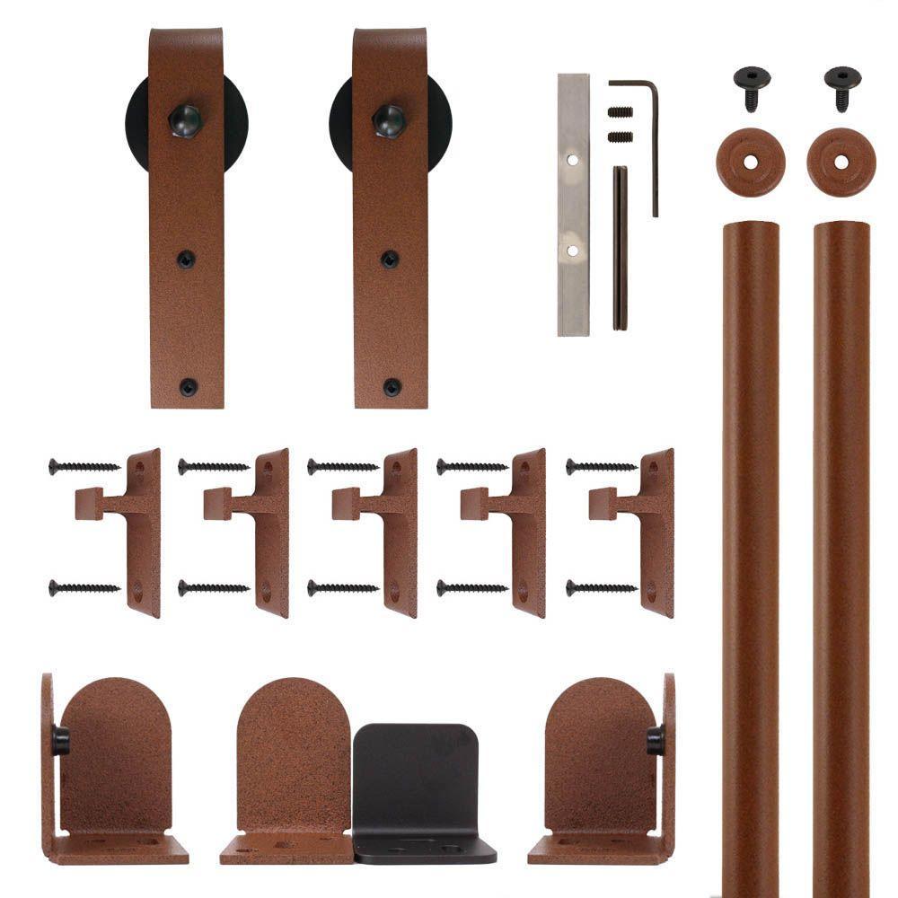 Hook Hardware New Age Rust Rolling Door Hardware Kit for 3/4 in. to 1-1/2 in. Door