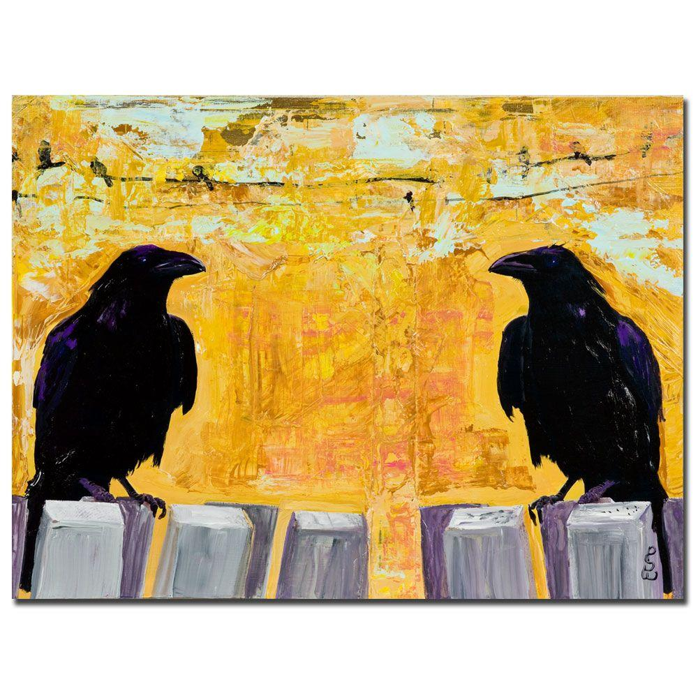 Trademark Fine Art 24 in. x 32 in. Gossiping Canvas Art
