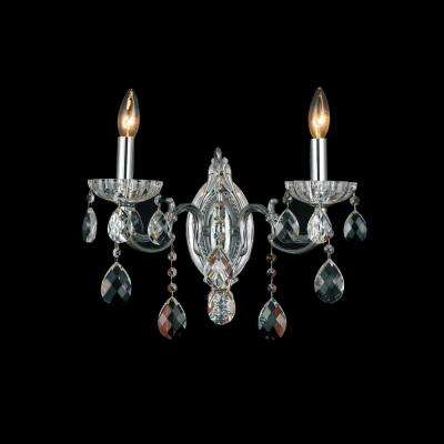 Flawless 2-Light Chrome Sconce