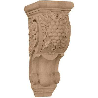 4-7/8 in. x 5-1/2 in. x 10-7/8 in. Maple Medium Grape Bunches Corbel