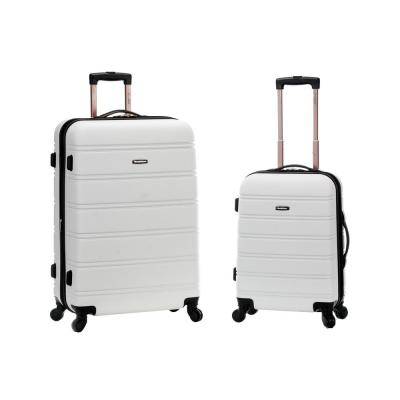 Rockland Melbourne Expandable 2-Piece Hardside Spinner Luggage Set, White