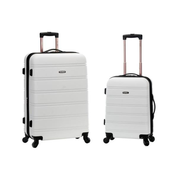 5ffd349ce55f Rockland Melbourne Expandable 2-Piece Hardside Spinner Luggage Set, White