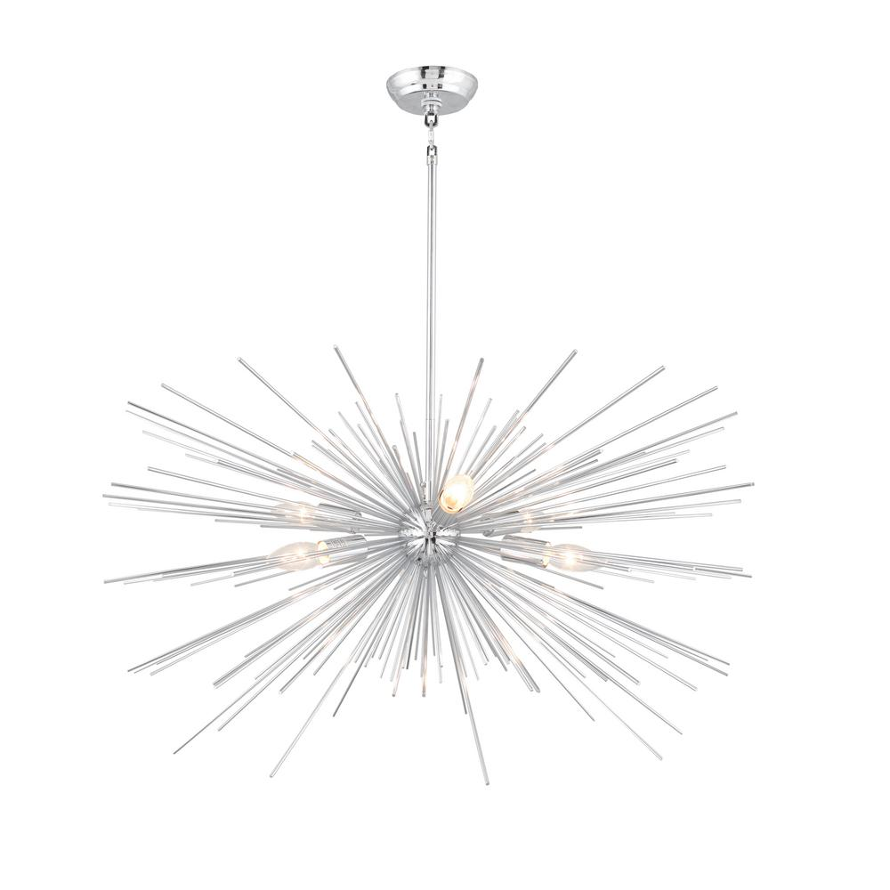 outlet store b6b8f 0f840 6-Light Chrome Sputnik Chandelier
