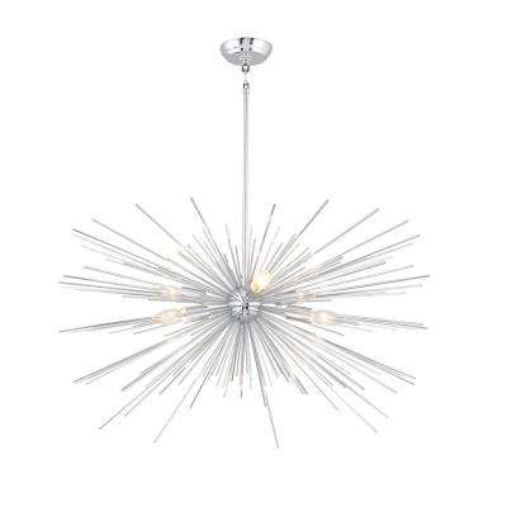 6-Light Chrome Sputnik Chandelier