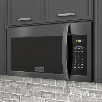 ZLINE Over the Range Microwave Oven in Black Stainless Steel