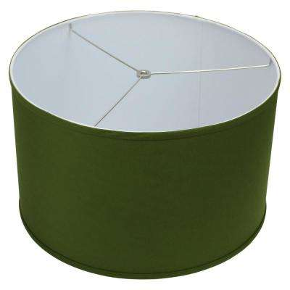 18 in. Top Diameter x 18 in. Bottom Diameter x 11 in. H Linen Avocado Drum Lamp Shade