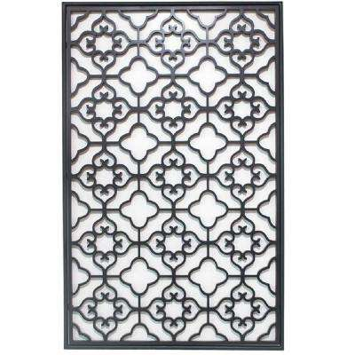 Barletta 40 in. H x 24.5 in. W Black Wall Plaque
