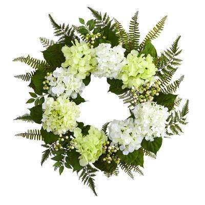 24 in. Hydrangea Berry Wreath