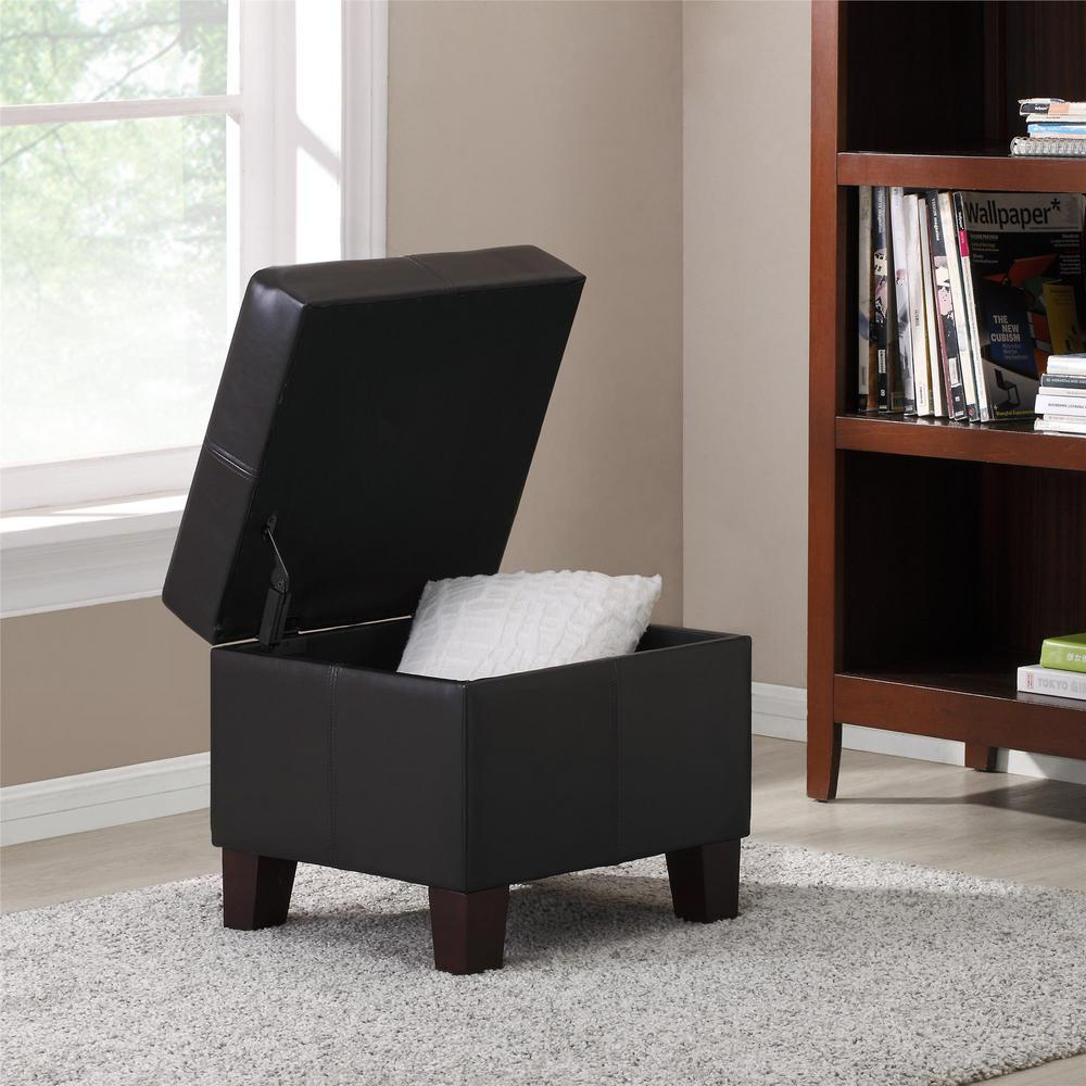 Dorel Living Byron Espresso Lift Top Storage Ottoman