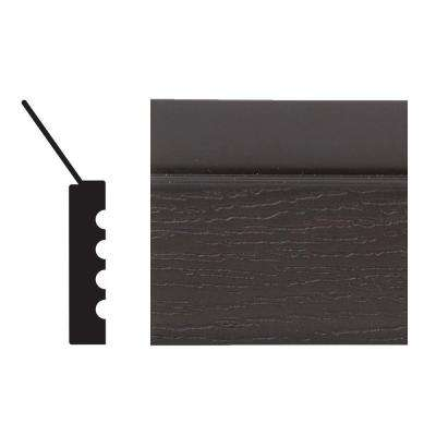 2149 7/16 in. x 2 in. x 84 in. PVC Brown Garage Door Stop Moulding
