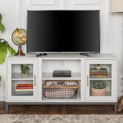 Modern TV Stand for TV's Up to 55 in. White