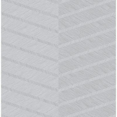 Aspen Grey Chevron Grey Paper Strippable Roll (Covers 56.4 sq. ft.)