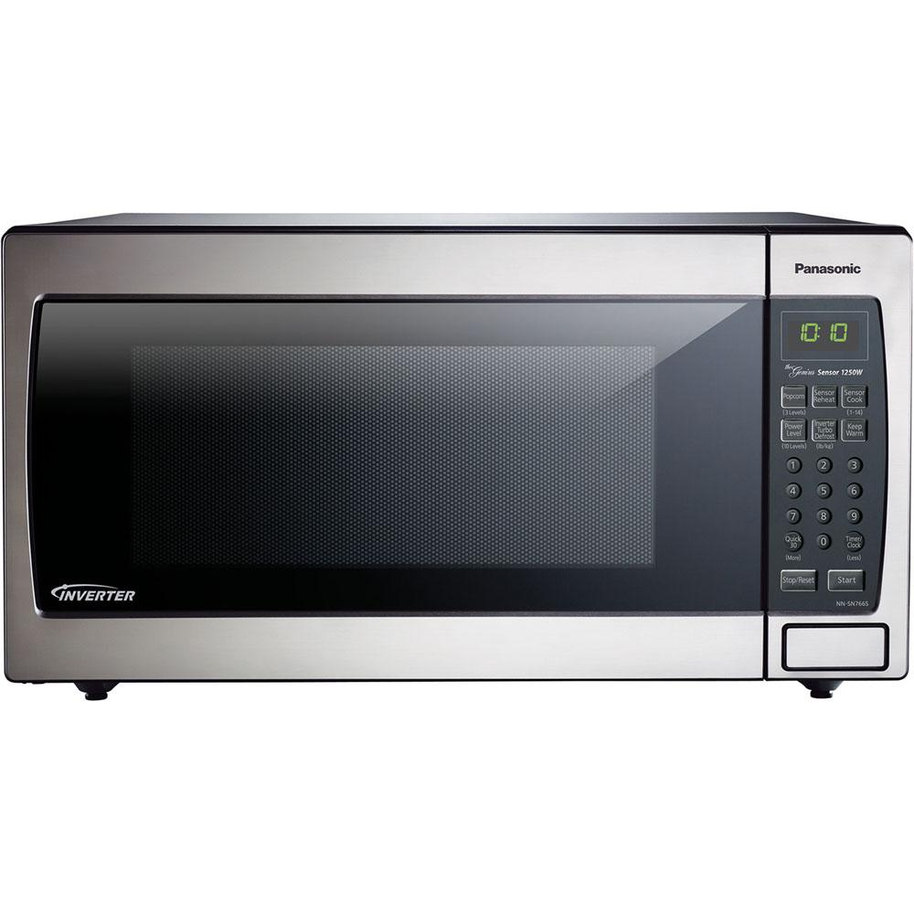 Panasonic 1 6 Cu Ft Countertop Microwave In Stainless Steel Built Capable With