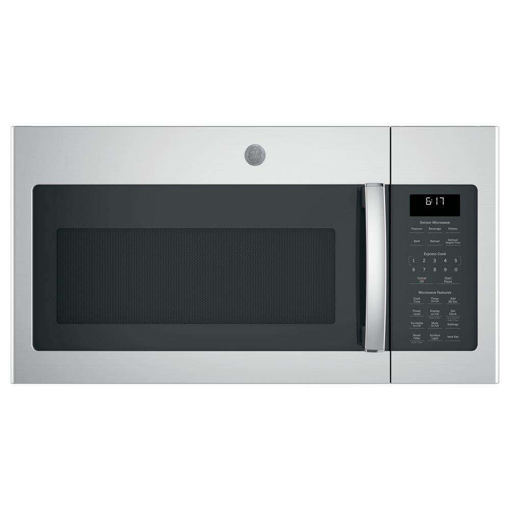 GE 1.7 cu. ft. Over the Range Microwave in Stainless Steel with Sensor Cooking, Fingerprint Resistant