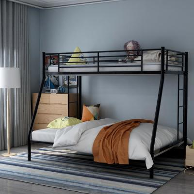 Black Twin Over Full Solid Metal Bunk Bed