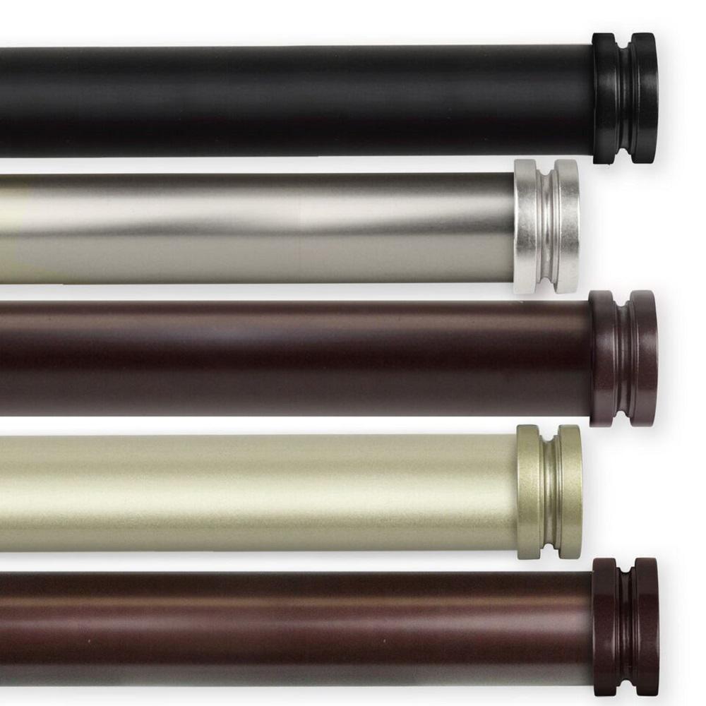 Bun 28 in. - 48 in. 1 in. Dia Curtain Rod in Satin Nickel
