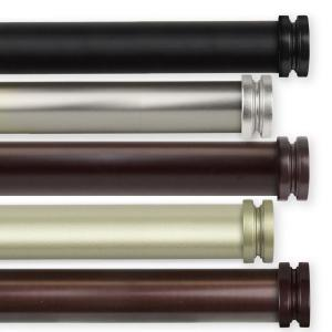 Bun 1 in. Dia 66 in. - 120 in. Single Curtain Rod in Bronze