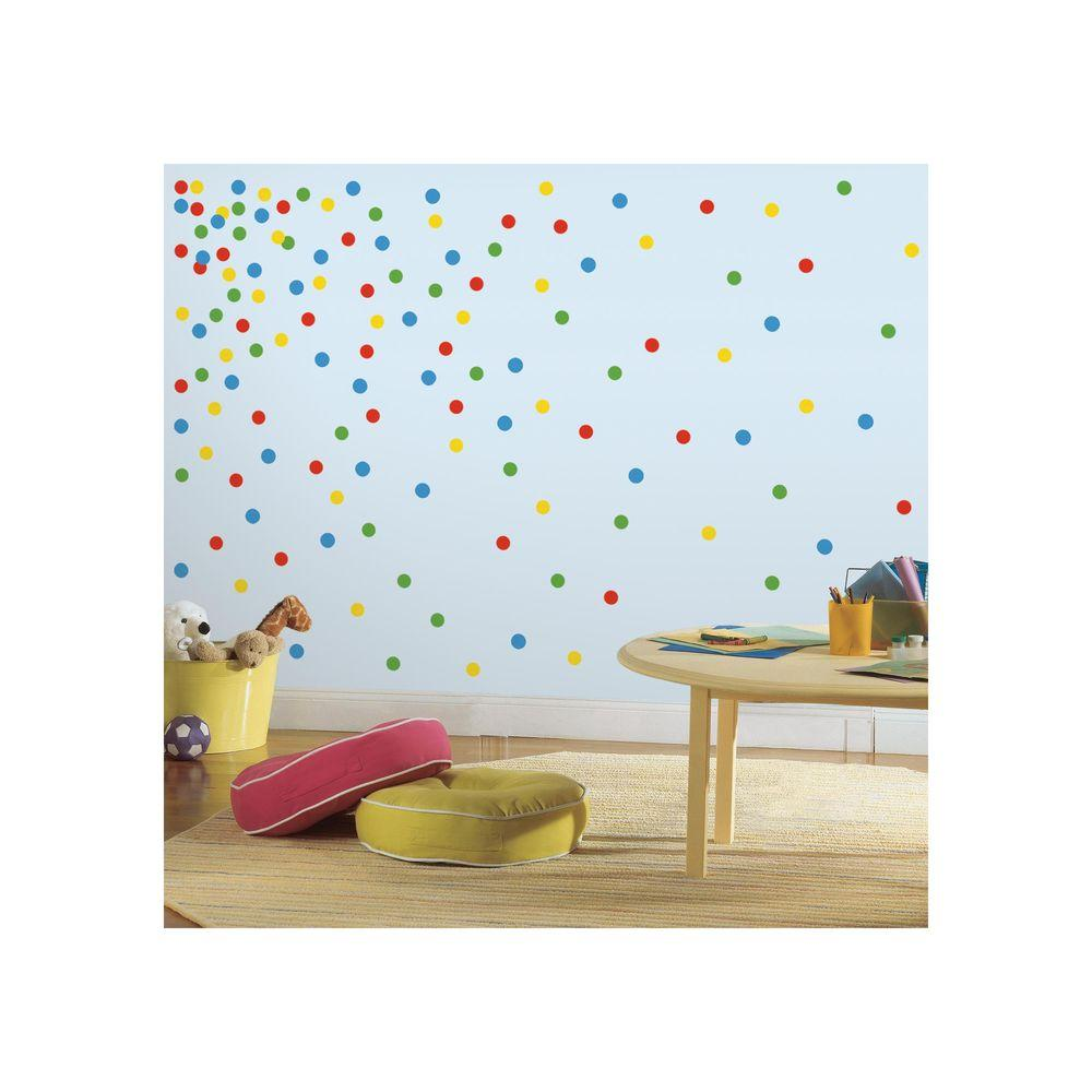 Roommates 5 In X 115 In Primary Confetti Dots 180 Piece Peel And