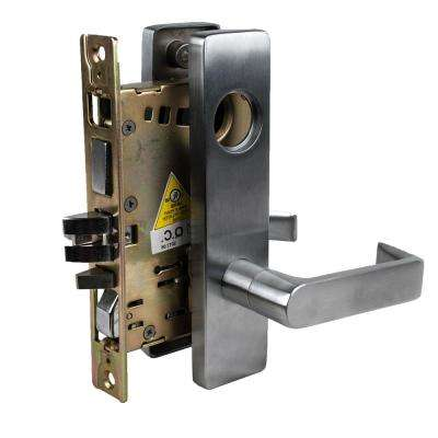 Heavy Duty Grade 1 Satin Chrome Mortise Lever Lock with Storeroom Function