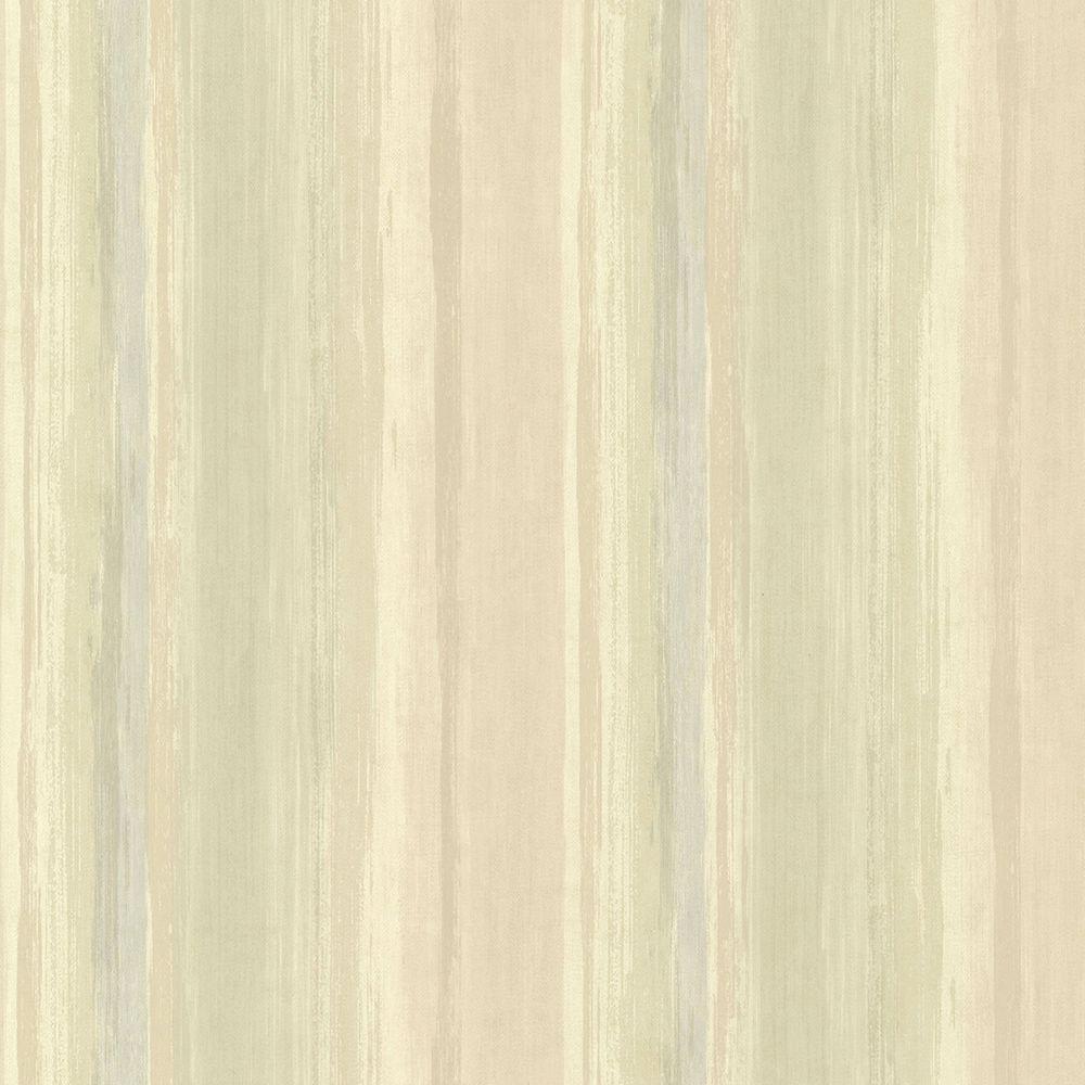 Chesapeake Sebago Moss Dry Brush Stripe Wallpaper Src01721