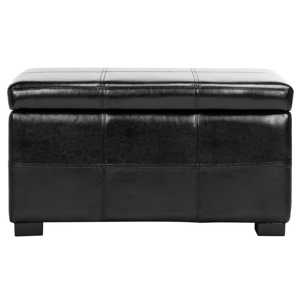 Lily Black Storage Bench