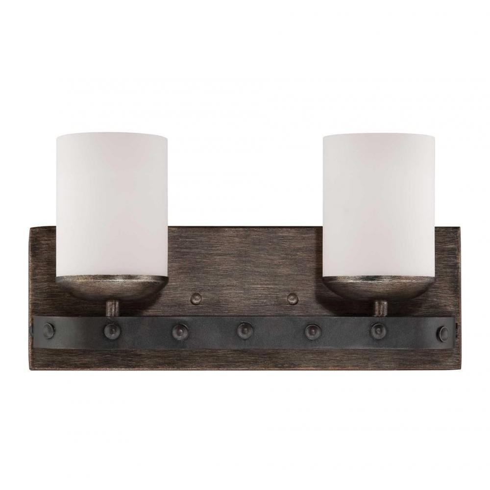 Aumbrie 2-Light Reclaimed Wood Bath Vanity Light