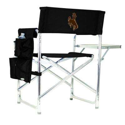 University of Wyoming Black Sports Chair with Digital Logo