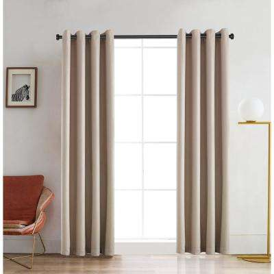 Venus 95 in. L x 52 in. W Blackout Polyester Curtain in Nature