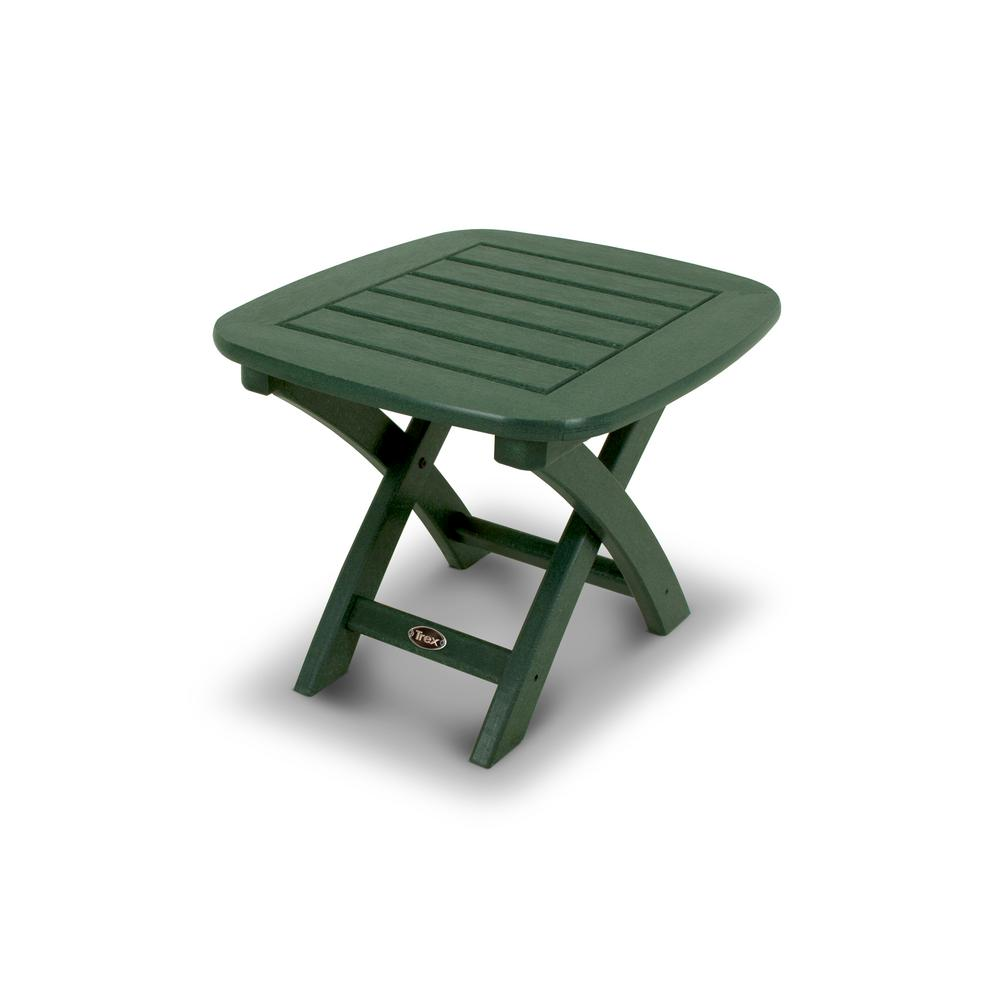 Trex Outdoor Furniture Yacht Club 21 in. x 18 in. Rainforest Canopy Patio Side Table