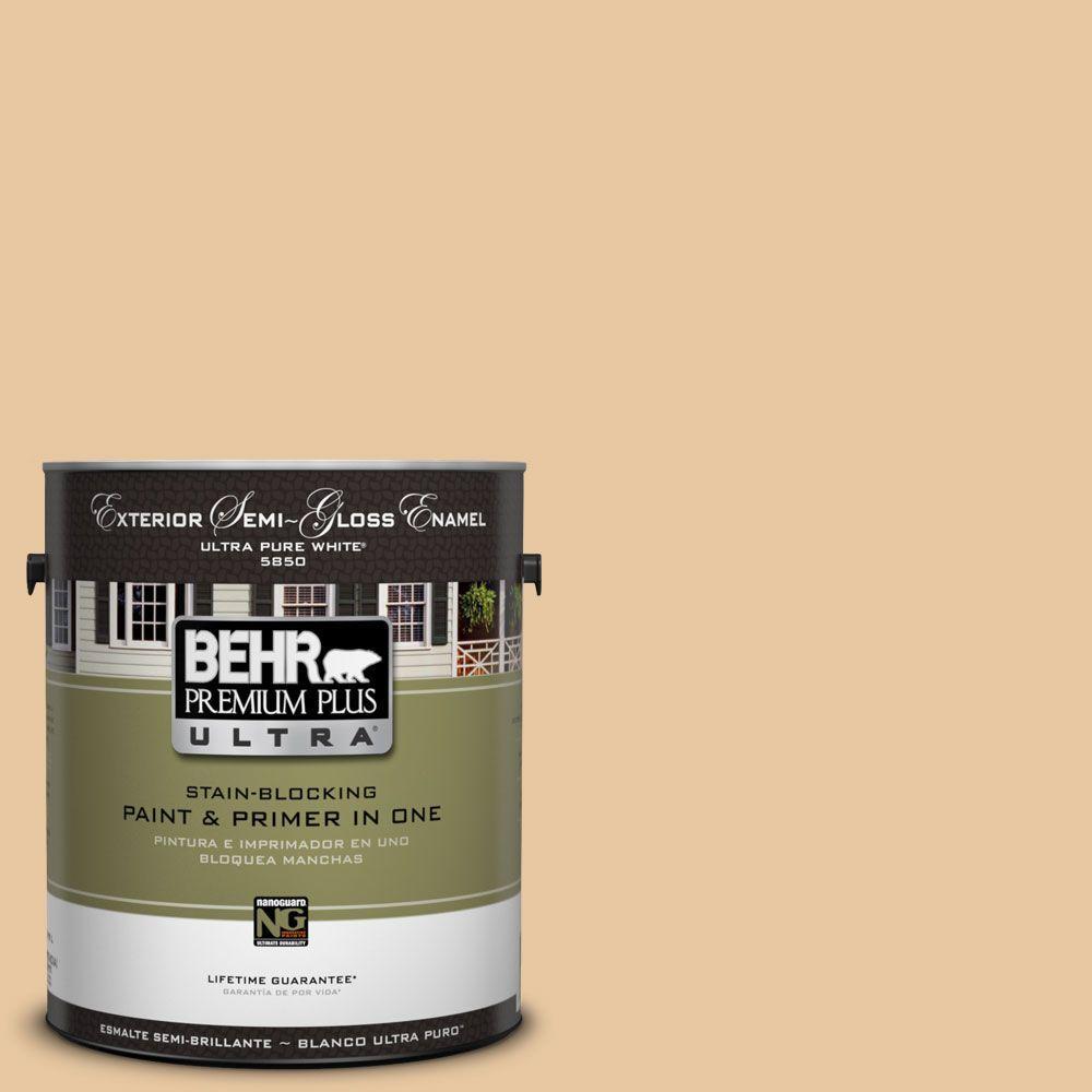 BEHR Premium Plus Ultra 1-Gal. #UL140-18 Jasper Cane Semi-Gloss Enamel Exterior Paint