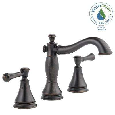 Cassidy 8 in. Widespread 2-Handle Bathroom Faucet with Metal Drain Assembly in Venetian Bronze