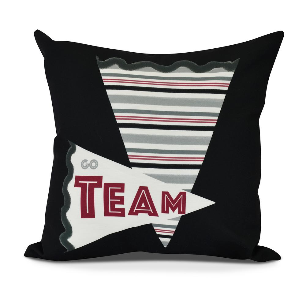 Go Team Word Print Decorative Pillow