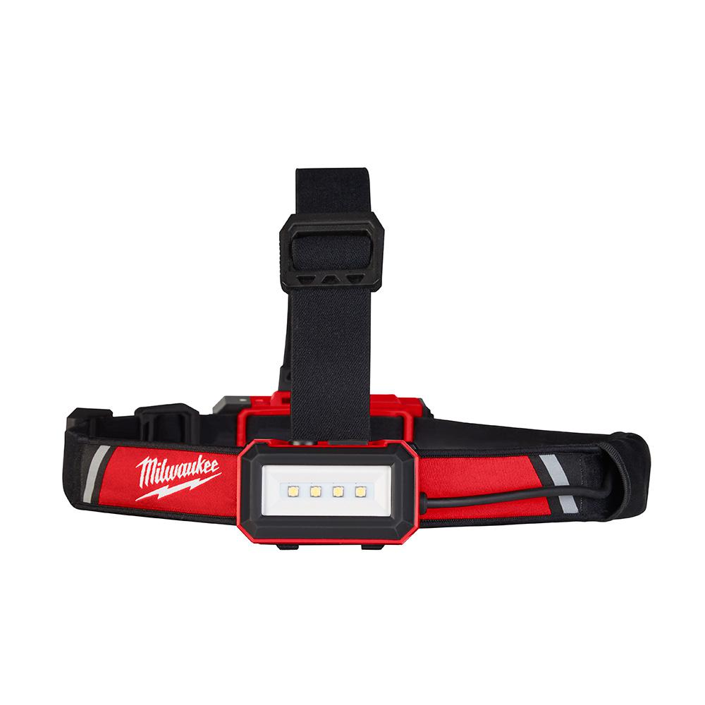 Milwaukee 600 Lumens LED USB Rechargeable Low-Profile Hard Hat Headlamp
