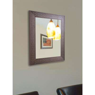 47 in. x 35 in. Espresso Bricks Non Beveled Vanity Wall Mirror